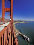 View North from Golden Gate Bridge, San Francisco, California, USA Photographic Print by William Sutton