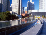 Martin Luther King Memorial Pool, Museum of Modern Art, San Francisco, California, USA Photographic Print by William Sutton