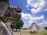 View of the Mayan site of Chichen Itza, Yucatan, Mexico Photographic Print by Greg Johnston