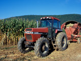 Tractor and Corn Field in Litchfield Hills, Connecticut, USA Photographic Print by Jerry & Marcy Monkman
