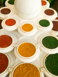 Bowls of Spices from Above, Agra, India Photographic Print by Bill Bachmann