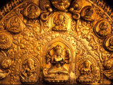 Gold Sculpture Artwork in Bali, Indonesia Photographic Print by Bill Bachmann