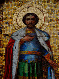 Mosaic Detail with Image of Christ, Alexander Nevsky Cathedral, Yalta, Ukraine Photographic Print by Cindy Miller Hopkins