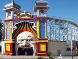 Entrance Gate to Luna Park, St Kilda, Melbourne, Victoria, Australia Photographic Print by David Wall