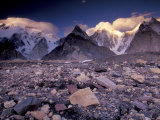 Broad and Gasherbrun Peaks, Karakoram Range, Pakistan Photographic Print by Art Wolfe