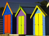 Bathing Boxes, Middle Brighton Beach, Port Phillip Bay, Melbourne, Victoria, Australia Photographic Print by David Wall