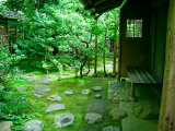 Zen Garden, Kyoto, Japan Photographic Print by Shin Terada