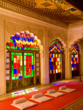 Stained Glass Windows of Fort Palace, Jodhpur at Fort Mehrangarh, Rajasthan, India Photographic Print by Bill Bachmann