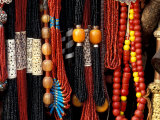 Color Bead Strands, Katmandu, Nepal Photographic Print by Art Wolfe