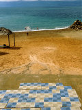 Checkered Foot Mats Lead to the Dead Sea, Dead Sea Hotel and Spa, Jordan Photographic Print by Cindy Miller Hopkins