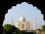 Sunrise at the Taj Mahal, Agra, India Photographic Print by Bill Bachmann