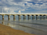Urangan Pier, Hervey Bay, Fraser Coast, Queensland, Australia Photographic Print by David Wall