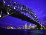 Skyline and the Harbor Bridge, Sydney, Australia Fotografie-Druck von Bill Bachmann