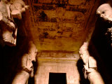 Tomb of Ramses II with Original Paint and Stone Statues, Abu Simbel, Egypt Photographic Print by Cindy Miller Hopkins