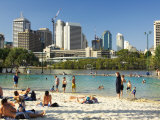 Beach, South Bank Parklands, Brisbane, Queensland, Australia Photographic Print by David Wall