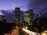 Motorway and Sydney CBD, Sydney, Australia Photographic Print by David Wall