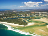 Mouth of Noosa River, Noosa Heads, Sunshine Coast, Queensland, Australia Photographic Print by David Wall