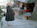 Monk, Kyoto, Japan Photographic Print by Shin Terada