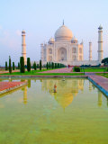 Taj Mahal Temple at Sunrise, Agra, India Photographic Print by Bill Bachmann