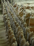 Terra Cotta Warriors and Horses Dig, Xi'an, Shaanxi Province, China Photographic Print by Pete Oxford