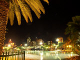South Bank Parklands at Night, Brisbane, Queensland, Australia Photographic Print by David Wall
