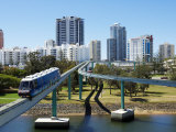 Monorail by Jupiter's Casino, Broadbeach, Gold Coast, Queensland, Australia Photographic Print by David Wall