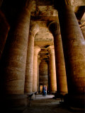 12 Hieroglyphic Covered Columns in the Hypostyle Hall, Temple of Horus, Edfu, Egypt Photographic Print by Cindy Miller Hopkins