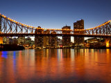 Story Bridge and Brisbane River, Brisbane, Queensland, Australia Photographic Print by David Wall
