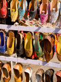 Shoes for Sale in Downtown Center of the Pink City, Jaipur, Rajasthan, India Photographic Print by Bill Bachmann