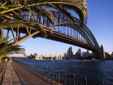 Sydney Harbor Bridge and Sydney Opera House, Australia Photographic Print by David Wall