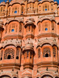 Wind Palace in Downtown Center of the Pink City, Jaipur, Rajasthan, India Photographic Print by Bill Bachmann