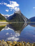 Mitre Peak, Milford Sound, Fjordland National Park, South Island, New Zealand Photographic Print by David Wall