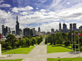 View from the Shrine of Remembrance, Melbourne, Victoria, Australia Photographic Print by David Wall