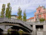 Triple Bridge by Joze Plecnik off Preseren Square, Ljubljana, Slovenia Photographic Print by Lisa S. Engelbrecht