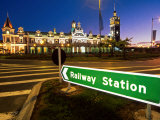Dunedin Railway Station, New Zealand Photographic Print by David Wall