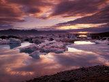Landscape, Jokulsarlon Lagoon, Iceland Photographic Print by Art Wolfe