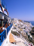 View from Cliffs, Santorini, Greece Photographic Print by Bill Bachmann