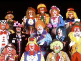 Group Portrait of Clowns Photographie par Bill Bachmann