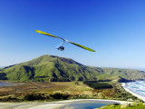 Hang Glider, Otago Peninsula, near Dunedin, South Island, New Zealand Photographic Print by David Wall