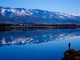Lake Dunstan and Pisa Range, Central Otago Photographic Print by David Wall