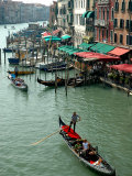 Gondolas on Grand Canal, Venice, Italy Photographic Print by Lisa S. Engelbrecht
