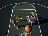 Family Playing Basketball Together Photographic Print by Bill Bachmann