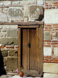 Detail of Historic Wooden Door, St. John Aliturgetoes Church, Nessebur, Bulgaria Photographic Print by Cindy Miller Hopkins