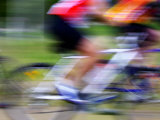 Mountain Bike Race, Bannockburn, near Cromwell, Central Otago, South Island, New Zealand Fotoprint van David Wall