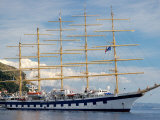 Royal Clipper in Harbor, Dubrovnik, Croatia Photographic Print by Lisa S. Engelbrecht