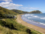 Makorori Beach near Gisborne, Eastland, New Zealand Photographic Print by David Wall