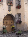 House Details, Guarda, Bernina Region, Switzerland Photographic Print by Art Wolfe