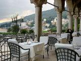 Millennium Hotel, Veranda Restaurant, Opatija, Croatia Photographic Print by Lisa S. Engelbrecht