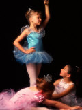 Young Ballerinas Wearing Tutus and Ballet Slippers Stampa fotografica di Bill Bachmann