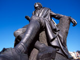 Robert Burns Statue, Octagon, Dunedin, New Zealand Photographic Print by David Wall